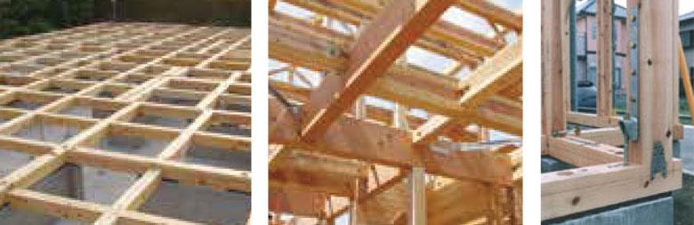 土台・骨組み・屋根下地杉板12mm