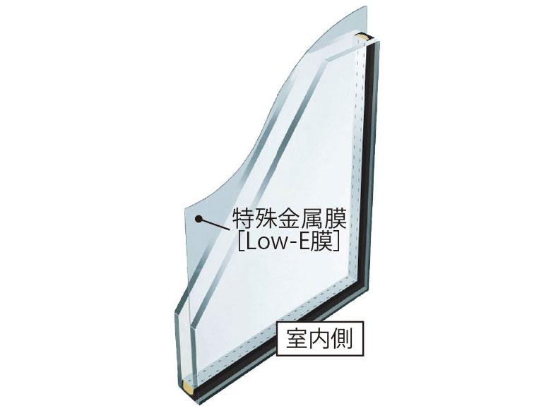 Low-E ペアガラス+樹脂断熱サッシ