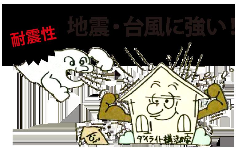 ダイライト工法は地震・台風に強い!